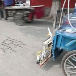 Water Calligraphy Bicycle.