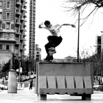 """I hearby exercise my right to skate."" Gnarly action from Ed Bacon."
