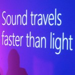 Sound travels faster than light
