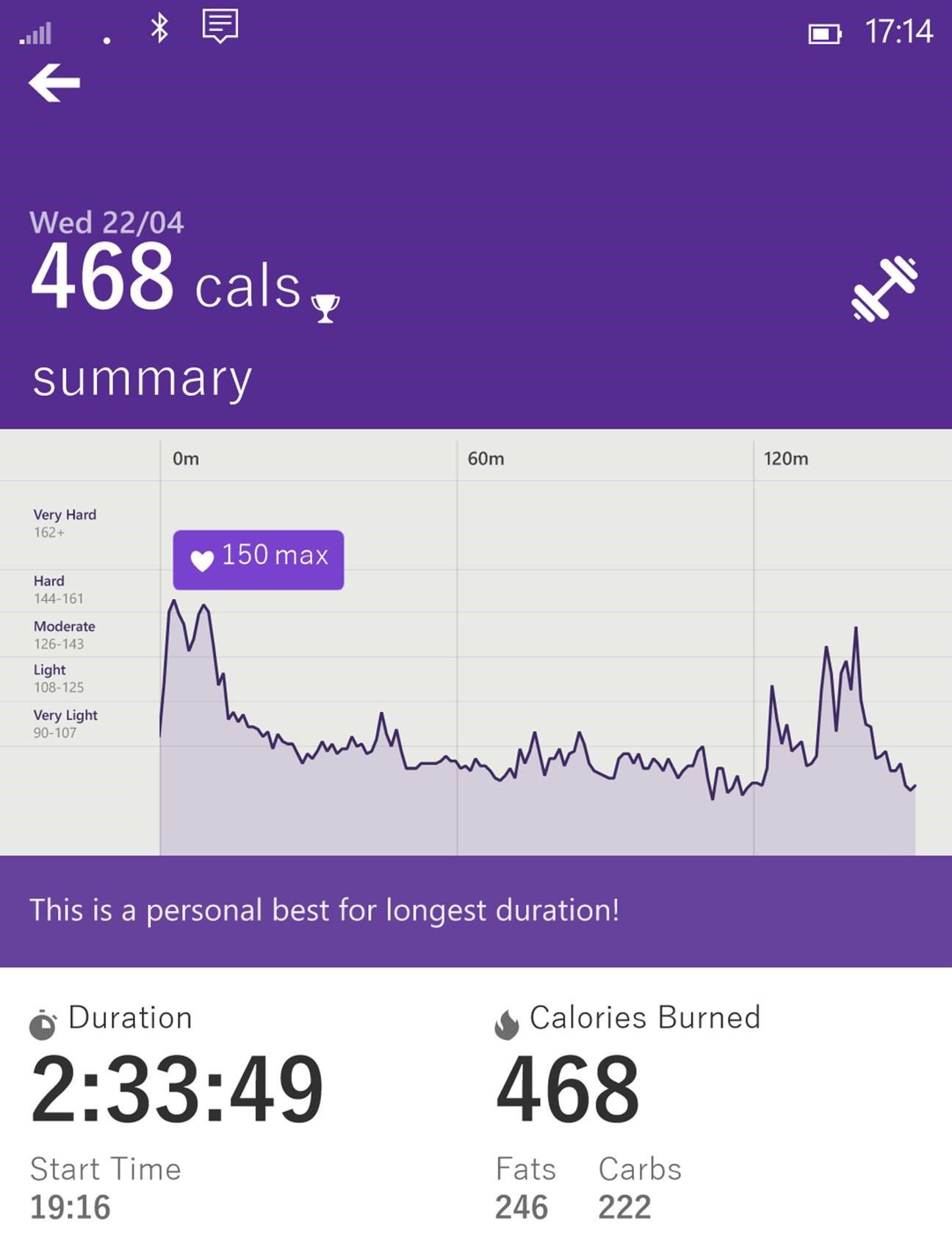 Heart rate data from Microosft Health app